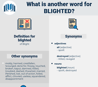 blighted, synonym blighted, another word for blighted, words like blighted, thesaurus blighted
