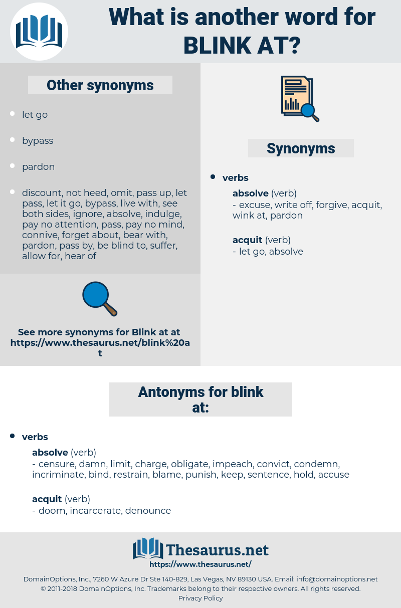 blink at, synonym blink at, another word for blink at, words like blink at, thesaurus blink at