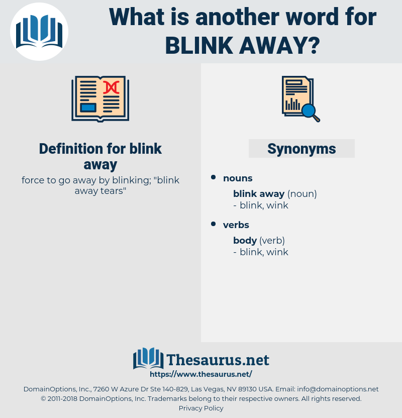 blink away, synonym blink away, another word for blink away, words like blink away, thesaurus blink away