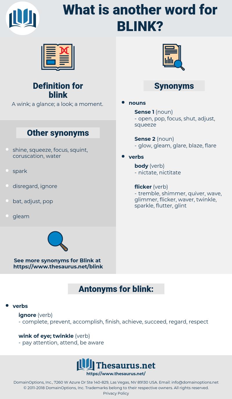 blink, synonym blink, another word for blink, words like blink, thesaurus blink