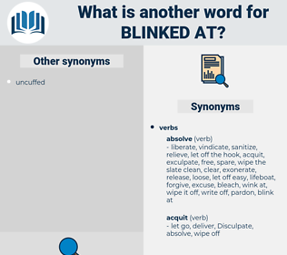 blinked at, synonym blinked at, another word for blinked at, words like blinked at, thesaurus blinked at