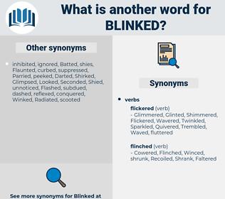 Blinked, synonym Blinked, another word for Blinked, words like Blinked, thesaurus Blinked