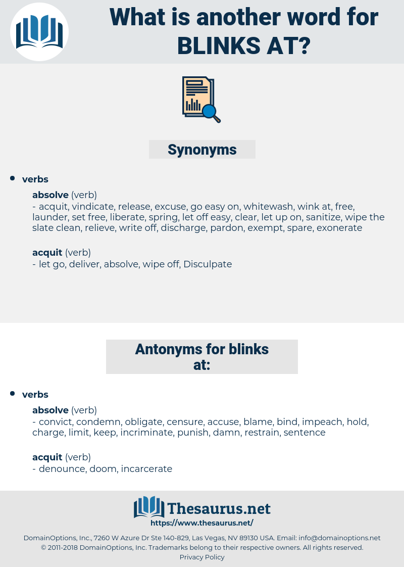 blinks at, synonym blinks at, another word for blinks at, words like blinks at, thesaurus blinks at