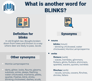 blinks, synonym blinks, another word for blinks, words like blinks, thesaurus blinks