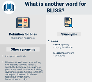 bliss, synonym bliss, another word for bliss, words like bliss, thesaurus bliss