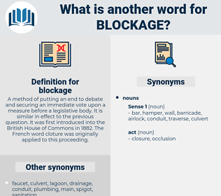 blockage, synonym blockage, another word for blockage, words like blockage, thesaurus blockage