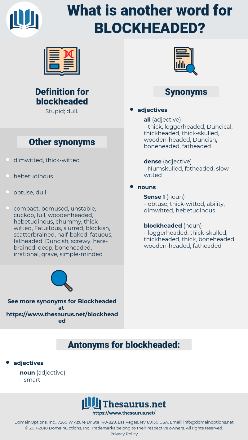 blockheaded, synonym blockheaded, another word for blockheaded, words like blockheaded, thesaurus blockheaded