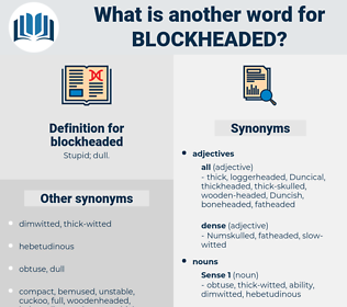 blockheaded, synonym blockheaded, another word for blockheaded, words like blockheaded, thesaurus blockheaded