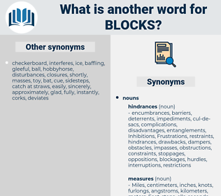 blocks, synonym blocks, another word for blocks, words like blocks, thesaurus blocks