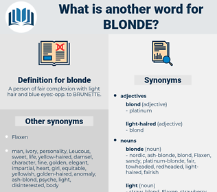 blonde, synonym blonde, another word for blonde, words like blonde, thesaurus blonde