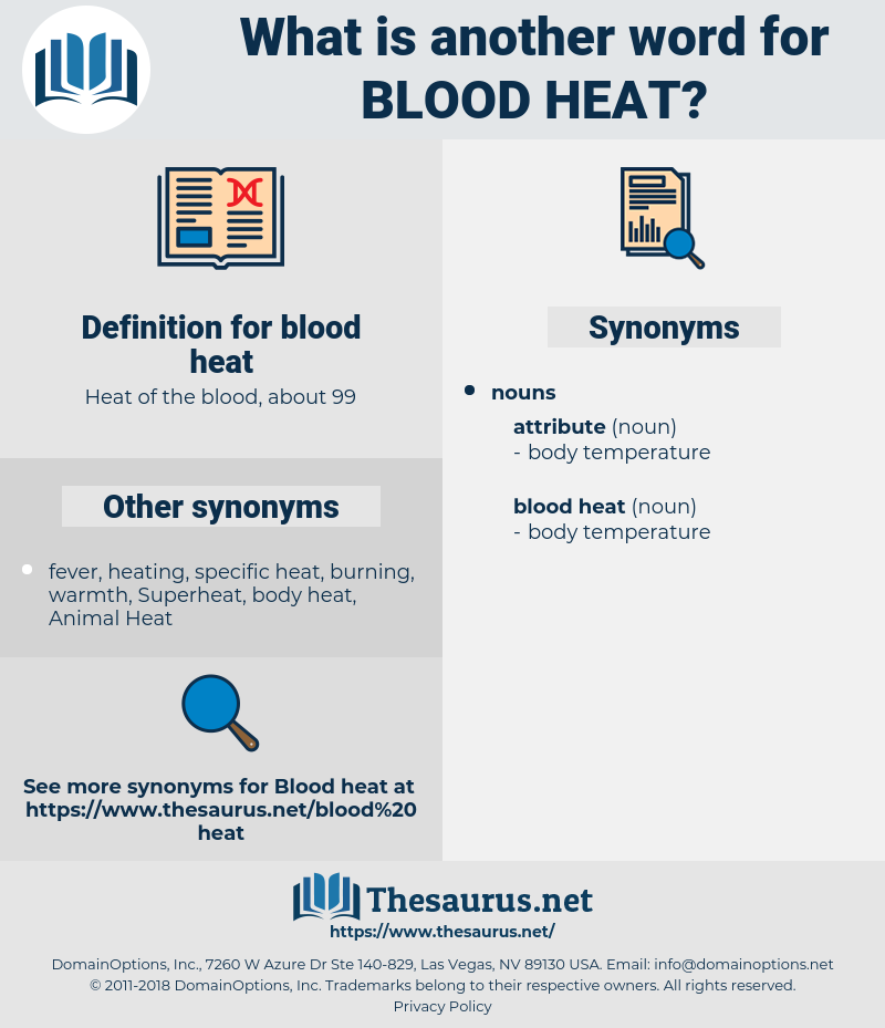 blood heat, synonym blood heat, another word for blood heat, words like blood heat, thesaurus blood heat