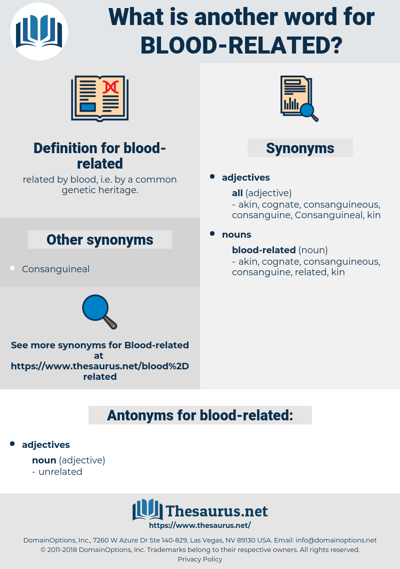 blood-related, synonym blood-related, another word for blood-related, words like blood-related, thesaurus blood-related