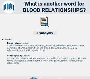 blood-relationships, synonym blood-relationships, another word for blood-relationships, words like blood-relationships, thesaurus blood-relationships