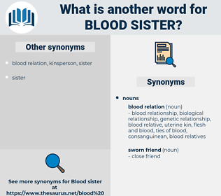 blood-sister, synonym blood-sister, another word for blood-sister, words like blood-sister, thesaurus blood-sister