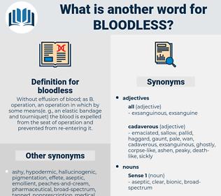 bloodless, synonym bloodless, another word for bloodless, words like bloodless, thesaurus bloodless