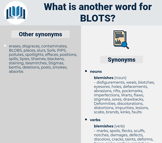 blots, synonym blots, another word for blots, words like blots, thesaurus blots