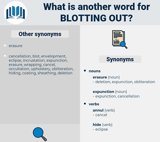 blotting out, synonym blotting out, another word for blotting out, words like blotting out, thesaurus blotting out