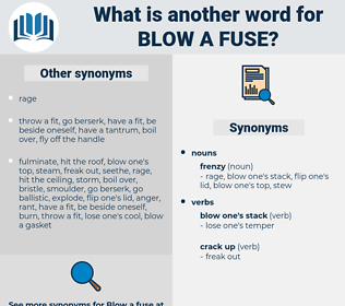 blow a fuse, synonym blow a fuse, another word for blow a fuse, words like blow a fuse, thesaurus blow a fuse