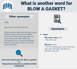 blow a gasket, synonym blow a gasket, another word for blow a gasket, words like blow a gasket, thesaurus blow a gasket