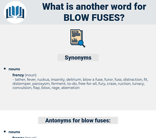 blow fuses, synonym blow fuses, another word for blow fuses, words like blow fuses, thesaurus blow fuses