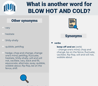 blow hot and cold, synonym blow hot and cold, another word for blow hot and cold, words like blow hot and cold, thesaurus blow hot and cold
