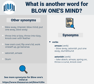 blow one's mind, synonym blow one's mind, another word for blow one's mind, words like blow one's mind, thesaurus blow one's mind