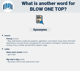 blow one top, synonym blow one top, another word for blow one top, words like blow one top, thesaurus blow one top