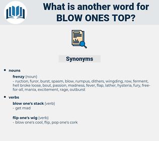 blow ones top, synonym blow ones top, another word for blow ones top, words like blow ones top, thesaurus blow ones top