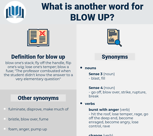 blow up, synonym blow up, another word for blow up, words like blow up, thesaurus blow up