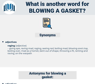 blowing a gasket, synonym blowing a gasket, another word for blowing a gasket, words like blowing a gasket, thesaurus blowing a gasket