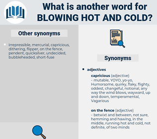 blowing hot and cold, synonym blowing hot and cold, another word for blowing hot and cold, words like blowing hot and cold, thesaurus blowing hot and cold