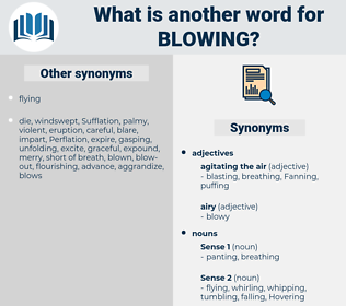 blowing, synonym blowing, another word for blowing, words like blowing, thesaurus blowing