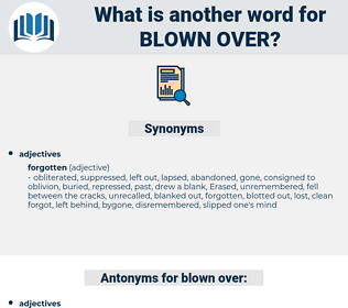 blown over, synonym blown over, another word for blown over, words like blown over, thesaurus blown over