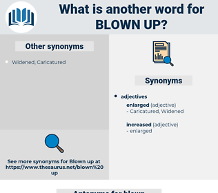 blown up, synonym blown up, another word for blown up, words like blown up, thesaurus blown up