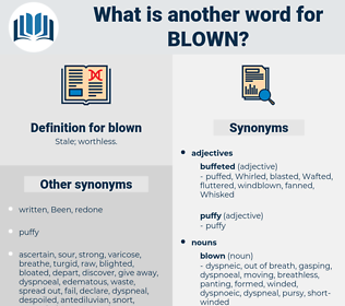 blown, synonym blown, another word for blown, words like blown, thesaurus blown