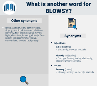 blowsy, synonym blowsy, another word for blowsy, words like blowsy, thesaurus blowsy