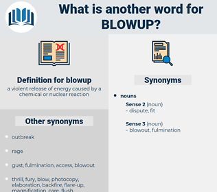 blowup, synonym blowup, another word for blowup, words like blowup, thesaurus blowup