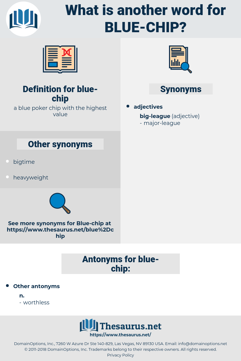 blue chip, synonym blue chip, another word for blue chip, words like blue chip, thesaurus blue chip