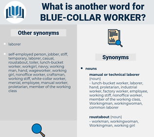 blue-collar worker, synonym blue-collar worker, another word for blue-collar worker, words like blue-collar worker, thesaurus blue-collar worker