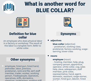 blue collar, synonym blue collar, another word for blue collar, words like blue collar, thesaurus blue collar