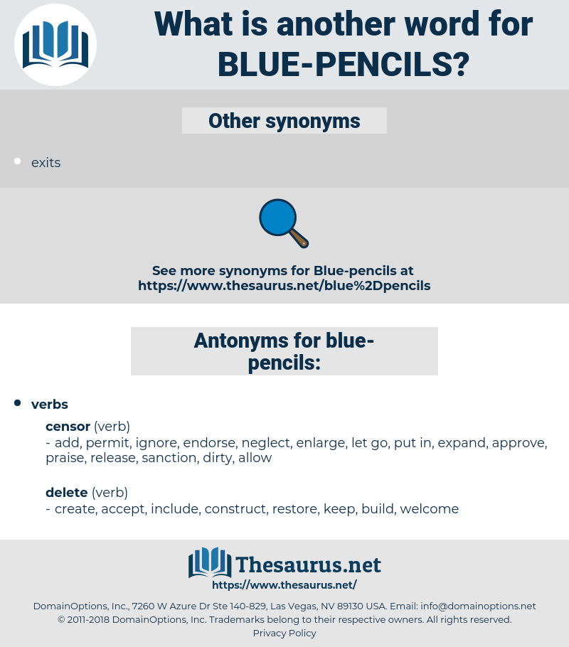 blue pencils, synonym blue pencils, another word for blue pencils, words like blue pencils, thesaurus blue pencils