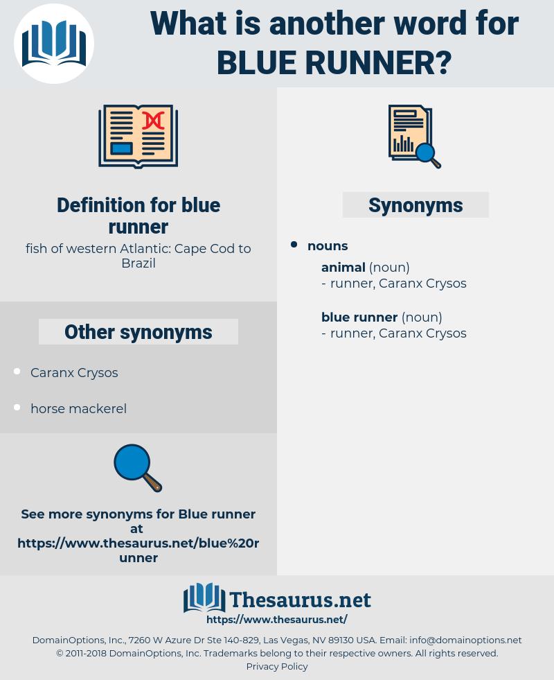 blue runner, synonym blue runner, another word for blue runner, words like blue runner, thesaurus blue runner