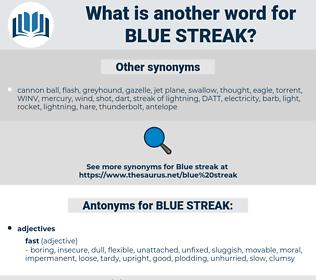 BLUE STREAK, synonym BLUE STREAK, another word for BLUE STREAK, words like BLUE STREAK, thesaurus BLUE STREAK