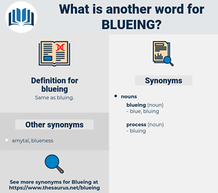 blueing, synonym blueing, another word for blueing, words like blueing, thesaurus blueing