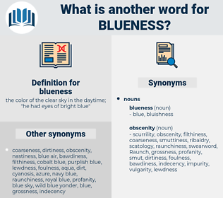 blueness, synonym blueness, another word for blueness, words like blueness, thesaurus blueness