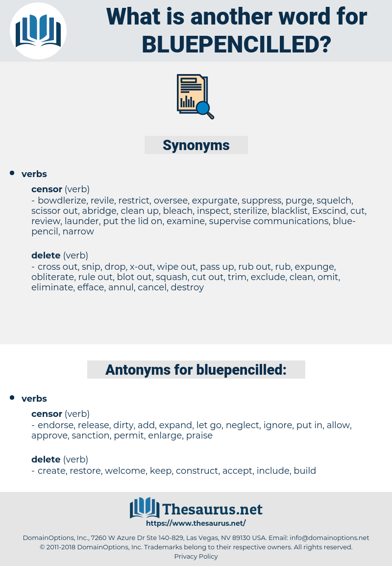 bluepencilled, synonym bluepencilled, another word for bluepencilled, words like bluepencilled, thesaurus bluepencilled