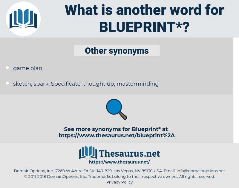 blueprint, synonym blueprint, another word for blueprint, words like blueprint, thesaurus blueprint