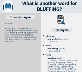 Bluffing, synonym Bluffing, another word for Bluffing, words like Bluffing, thesaurus Bluffing