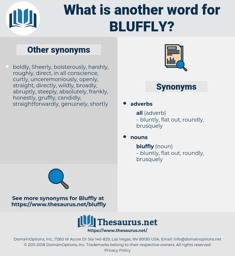 bluffly, synonym bluffly, another word for bluffly, words like bluffly, thesaurus bluffly