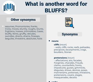 bluffs, synonym bluffs, another word for bluffs, words like bluffs, thesaurus bluffs